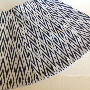 Zara Trafaluc  Skirt Navy & White Tribal Print